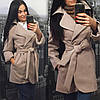 Кашемировое пальто с поясом и запахом (разные цвета), фото 3