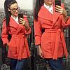 Кашемировое пальто с поясом и запахом (разные цвета), фото 5