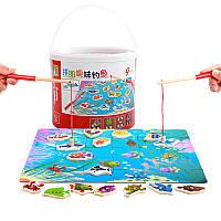 Деревянная игрушка Рыбалка «Подводные приключения», развивающие товары для детей.