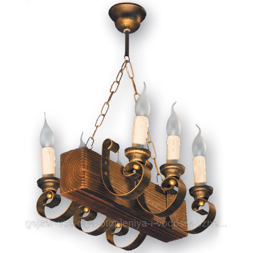 Люстра подвесная 6 свечей Е14 серии Venza 130526