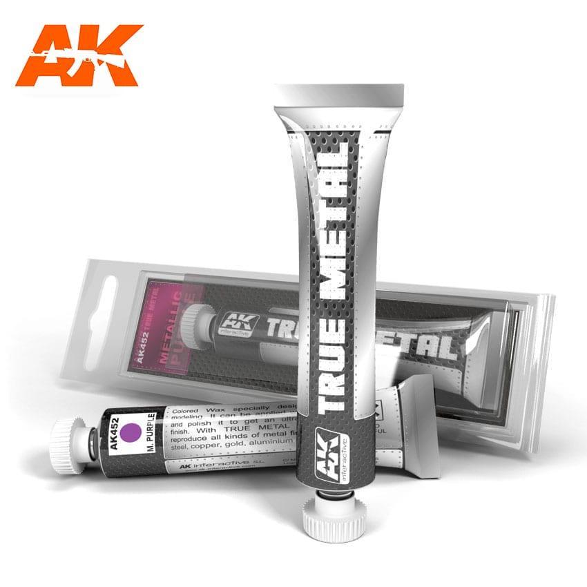 Восковая краска для полировки. Фиолетовый металлик 20 мл. AK-INTERACTIVE AK-452