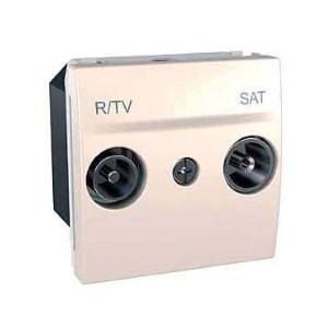 Розетка TV/R - SAT одиночна, слонова кістка. Unica MGU3.454.25