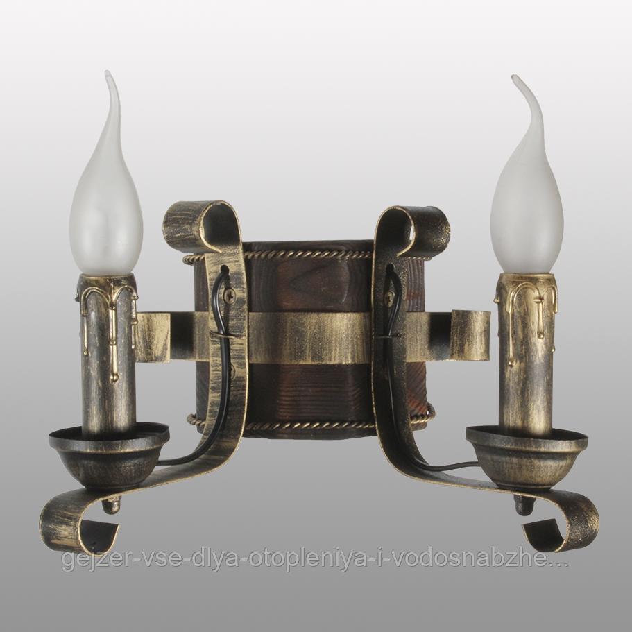 Бра настенное 2 свечи Е14 серии Ковка Свеча 680322