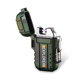 Водонепроницаемая электроимпульсная USB-зажигалка Sundy Зеленая