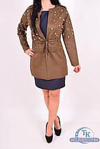 Пиджак женский (цв.хаки) 4465 Размер:46,48