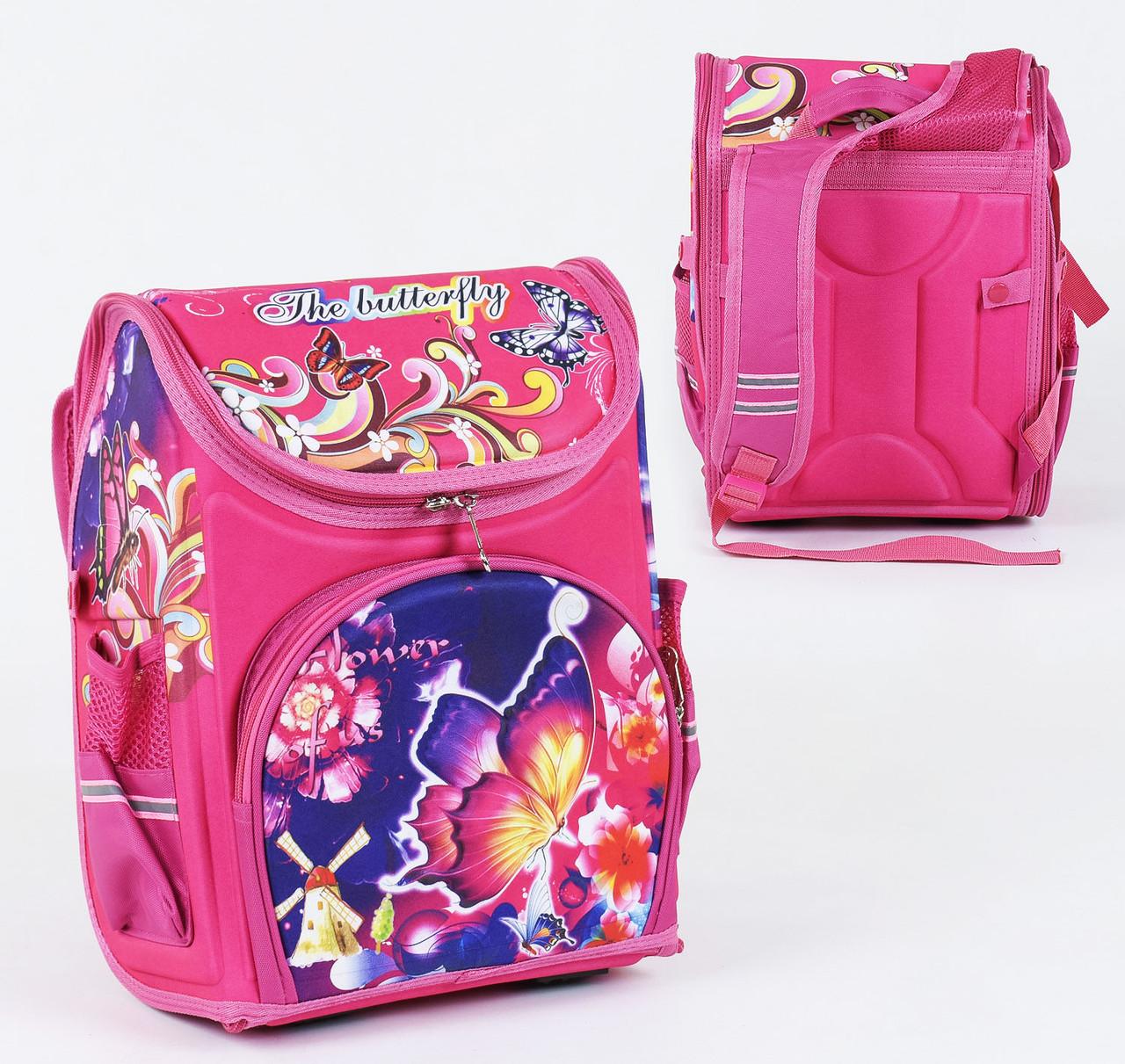+ Подарок Детский школьный рюкзак 775 каркасный 3D принт, 1 отделение, 3 кармана
