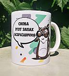 "Чашка-прикол ""Енот - запах безразличия"". Подарочная чашка-сувенир18+, фото 2"