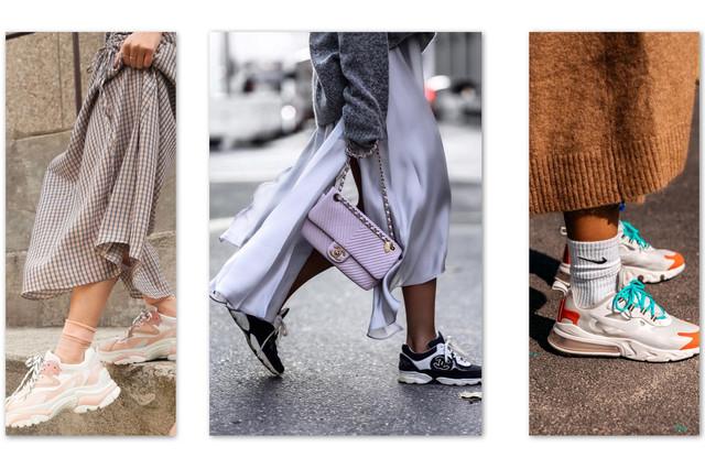 косуха и модные кроссовки