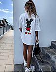 Женская футболка, вискоза, р-р универсальный 42-46 (белый), фото 3