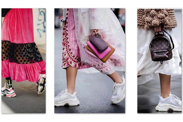 косуха и кроссовки в моде