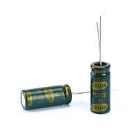 10x Конденсатор электролитический алюминиевый 2200мкФ 16В 105С