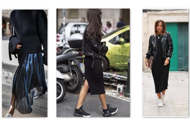 кожаная куртка с юбками черными