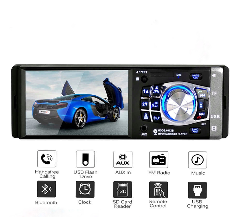 Автомагнитола 1din с экраном Bluetooth \ USB \ micro SD \ FM