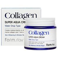 Увлажняющий крем с коллагеном Farm Stay Collagen Super Aqua Cream, 80ml