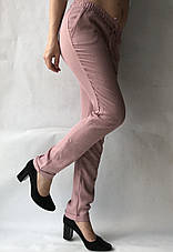 Летние брюки из льна-коттона №14 БАТАЛ розовый, фото 3