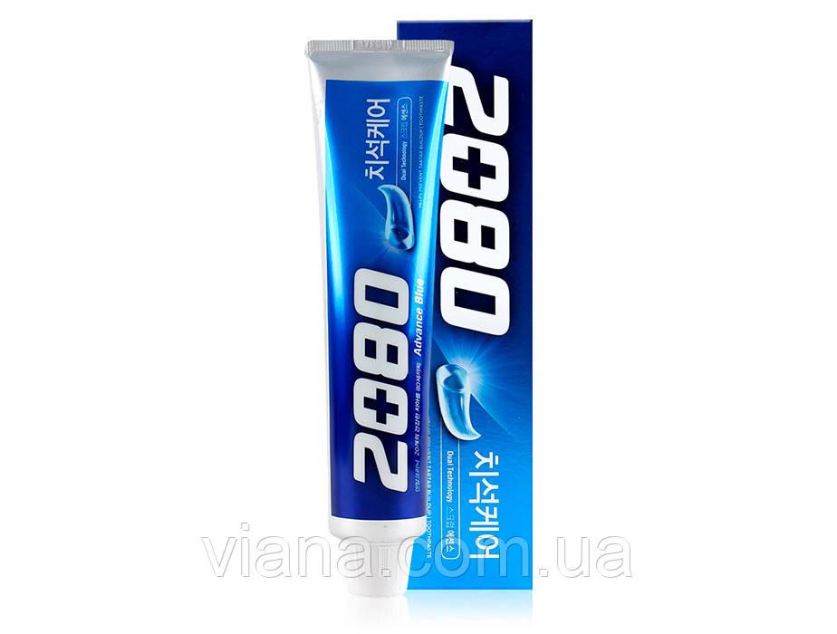 Зубная паста с эффектом отбеливания Aekyung 2080 Advance Blue Toothpaste Scrub Essence 120 грамм