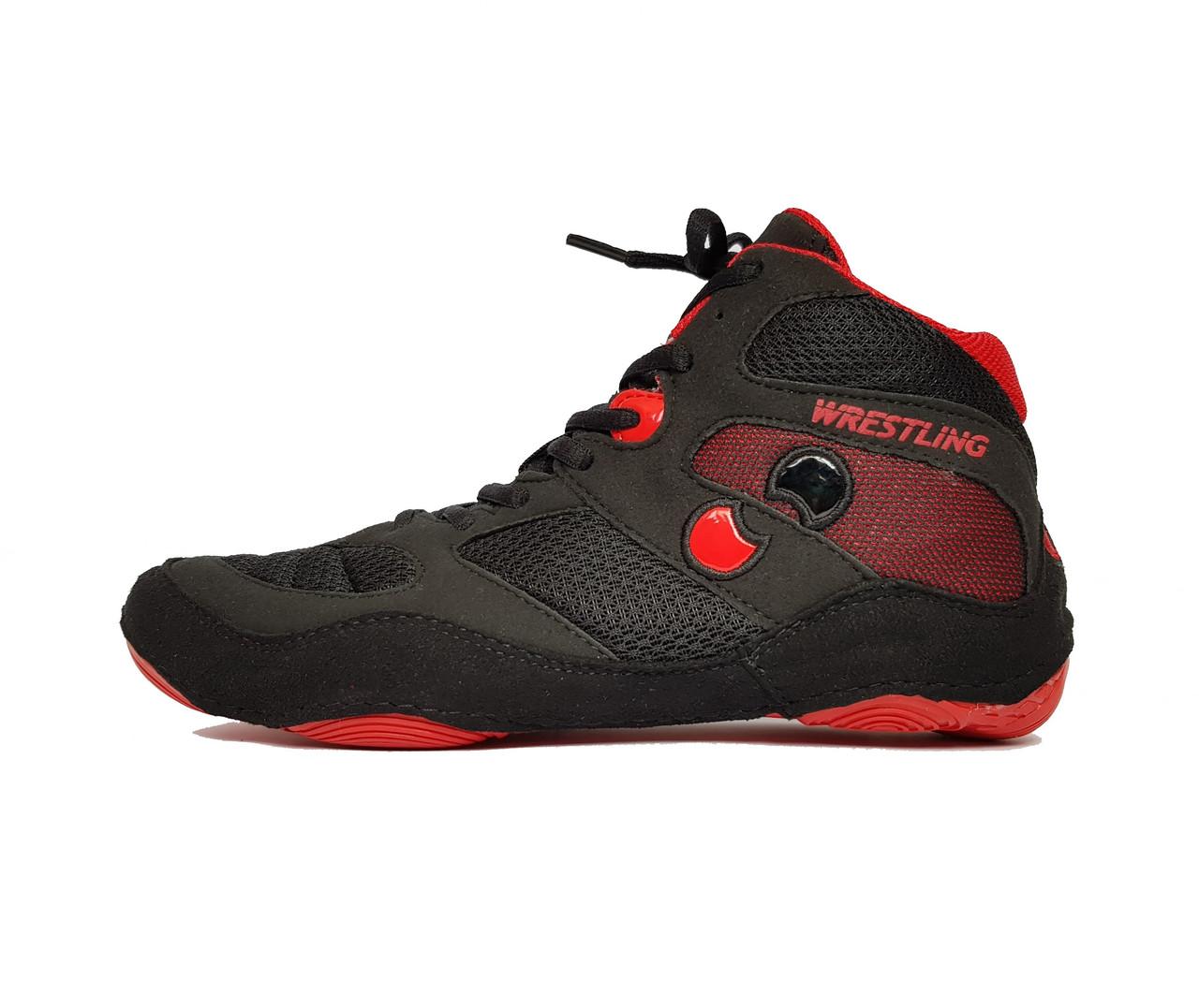 Борцовки детские Shuzoyd Wrestling Shoes, Black/Red