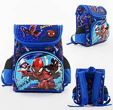 + Подарок Детский школьный рюкзак Паук каркасный 3D принт, 1 отделение, 3 кармана, ортопедическая спинка