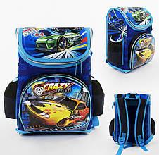 + Подарок Детский школьный рюкзак СпортКар каркасный 3D принт, 1 отделение, 3 кармана, ортопедическая спинка