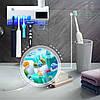 Тримач Дозатор для зубної пасти та щітки Toothbrush sterilizer УФ-стерилізатор Диспенсер, фото 4