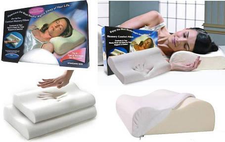 Ортопедическая подушка Comfort Memory Pillow с наволочкой, подушка с памятью, фото 2