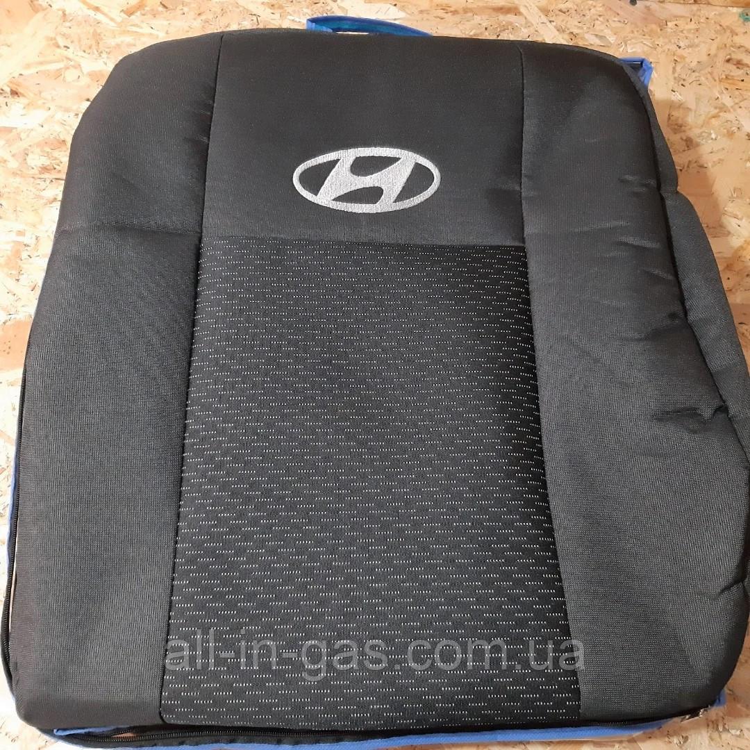 """Чехлы на Hyundai Accent 2011- (раздельный) / автомобильные чехлы """"Prestige"""" стандарт"""