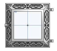 Чугунная печная дверка 25 х 25 см