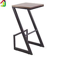 Стул барный Loft Крокус черный матовый, стул барный, стул для кафе, стул металлический