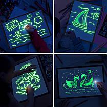 Рисуй Светом Доска A4 (21*30) для рисования светом в темноте. Планшет Набор Рисование, фото 2