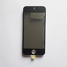 Скло корпусу Novacel для Apple iPhone 5 з рамкою OCA плівкою поляризаційної плівкою Black