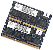 Пара оперативной памяти для ноутбука Nanya DDR3 4Gb (2Gb+2Gb) 1066MHz 8500S 2R8 CL7 (NT2GC64B8HC0NS-BE) Б/У