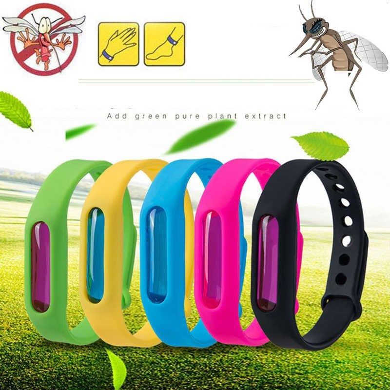 Силіконовий браслет відлякувач комах від комарів Anti Mosquito Band Purple 34320 різні кольори
