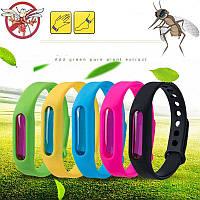 Силиконовый браслет отпугиватель насекомых от комаров Anti Mosquito Band Purple 34320 разные цвета