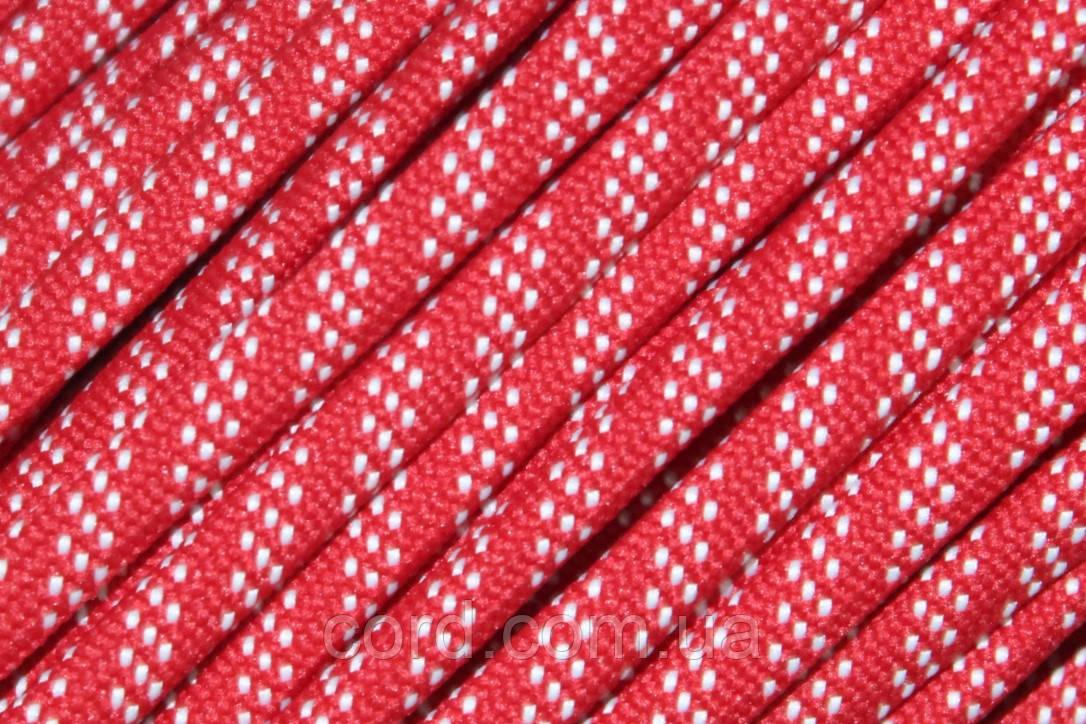 Шнур плоский чехол 7мм (100м) красный + белый