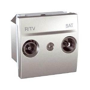 Розетка TV/R - SAT одиночная, алюминий. Unica Top MGU3.454.30