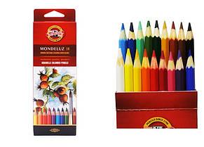 Акварельные карандаши 18 цвета koh-i-noor Mondeluz 3717018001ks
