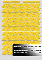 Наклейки знаки треугольные ( желтый треугольник ) для маркировки оборудования под печать на лазерном принтере