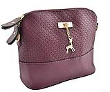 Женская маленькая сумка через плечо Бэмби фиолет, фото 2