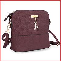 Женская маленькая сумка через плечо Бэмби фиолет
