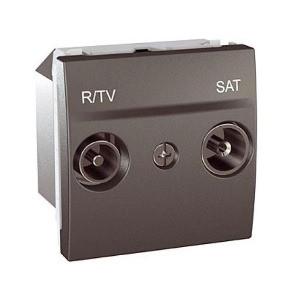 Розетка TV/R - SAT одиночна, графіт. Unica Top MGU3.454.12