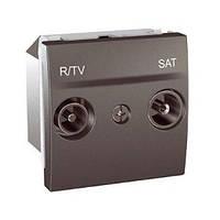 Розетка TV/R - SAT одиночная, графит. Unica Top MGU3.454.12