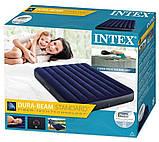 Intex Надувной матрас, велюровый, 137х191х25 см полуторный, пляжный, в коробке, 64758, фото 5
