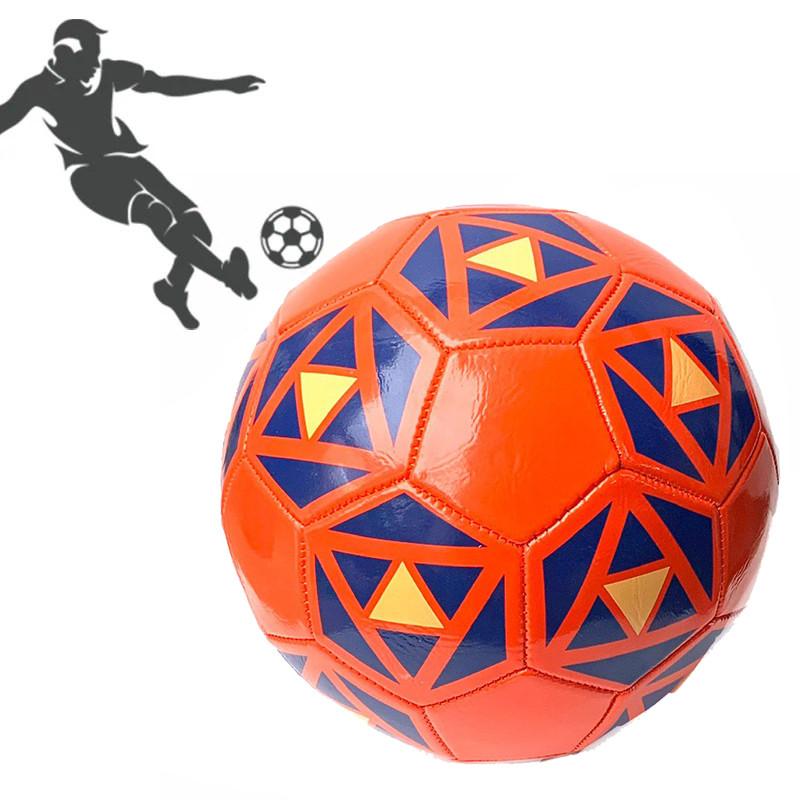 Мяч футбольный PU ламин 891-2 сшит машинным способом Красный