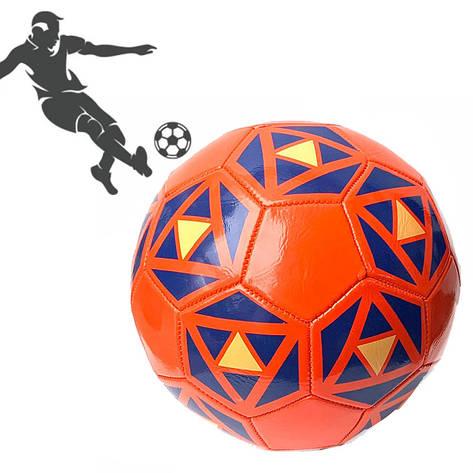 Мяч футбольный PU ламин 891-2 сшит машинным способом Красный, фото 2