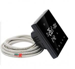 Терморегулятор программируемый  EcoTerm  SN Black сенсорный, фото 2