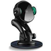 Автодержатель с беспроводной зарядкой Usams CD94 Suction Cup Type Automatic Wireless Car Holder 10W Black