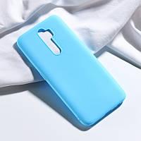 Чехол Soft Touch для Oppo A5 2020 силикон бампер мятно-голубой