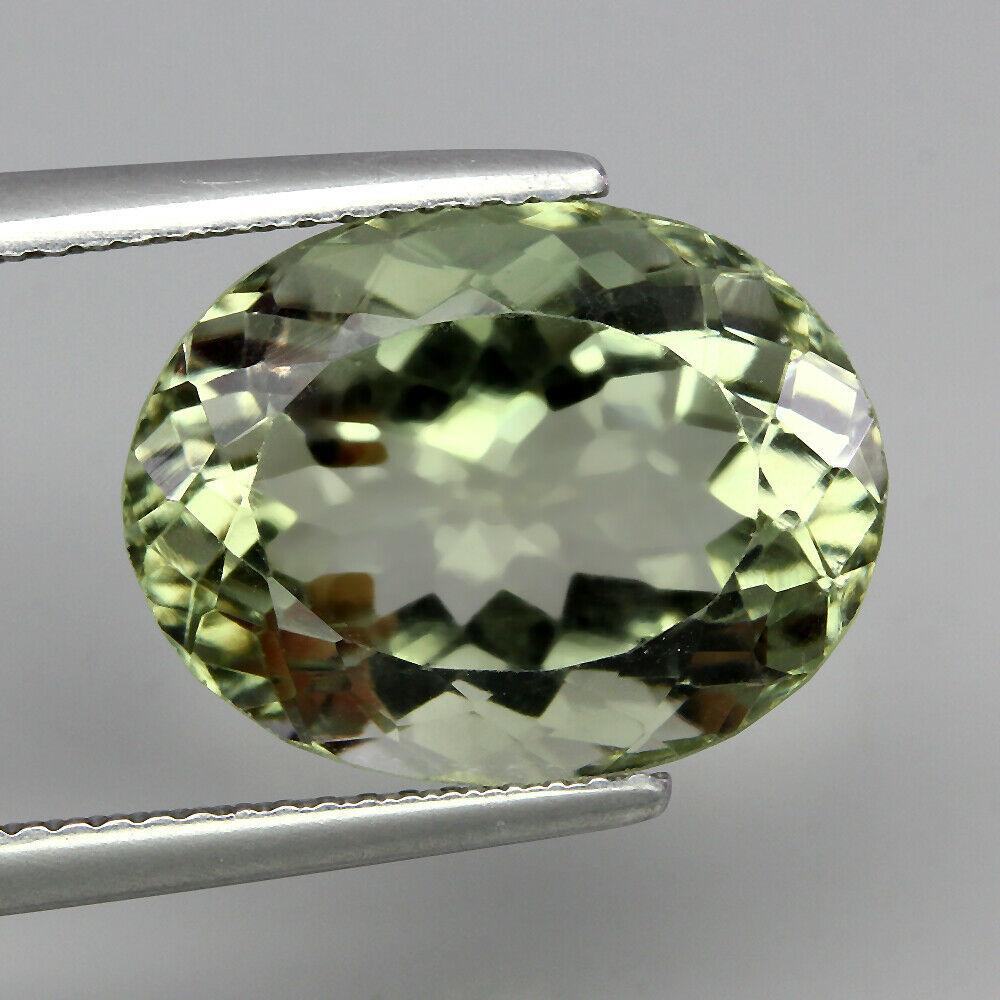 Натуральный празиолит (зеленый аметист ) 10.22ct   16x12mm
