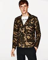 Куртка мужская ZARA камуфляжная (милитари)