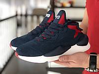 Кросівки чоловічі в стилі Adidas Y-3 Kaiwa сині з білим ТОП якість